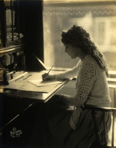 Mary Pickford, writing.