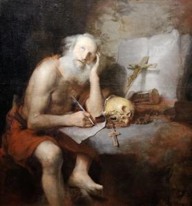 St. Jerome, writing.