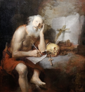 St. Jerome, writing.