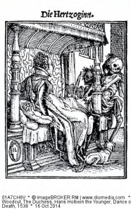 The Duchess, Hans Holbein the Younger, Dance of Death, 1538. Pretty sure if Death was playing a violin when my dad flew away, it was Mahler.