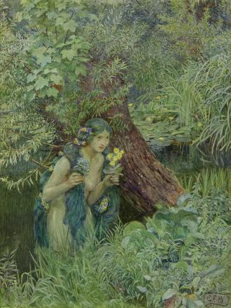 Eleanor_Fortescue-Brickdale_-_With_goodly_greenish_locks